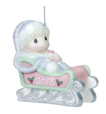 2015 Precious Moments Boy Dated Ornament Baby'S First Christmas