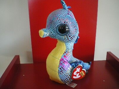 Ty Beanie Boos NEPTUNE Seahorse 6 inch NWT. RETIRED.