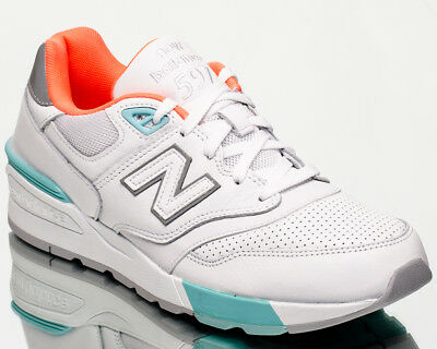 wholesale dealer bed92 43506 NEW BALANCE 597 NB NB597 men lifestyle casual sneakers new white mint  ML597-VAA