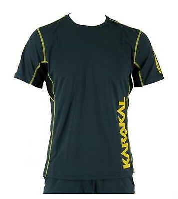 Karakal Pro Tour T Shirt Tennis Badminton Squash Graphite light cool tec fabric