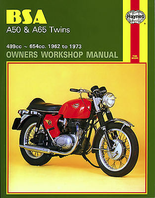 BSA A50 and A65 Owners Workshop Manual 1962-73 Star Lightning Spitfire etc *NEW