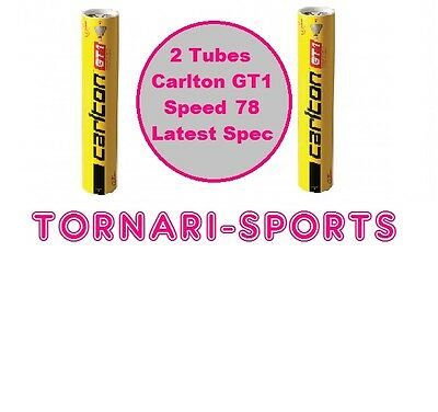 2 x Tubes CARLTON GT1 FEATHER SHUTTLECOCKS Speed 78 - 2 x Tube of 12
