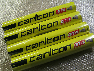 4 x CARLTON GT4 FEATHER SHUTTLECOCKS Speed 78 Tube of 12 / 4 x dozen shuttles