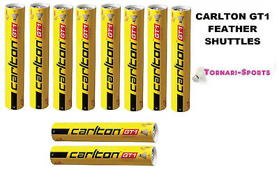 10 x CARLTON GT1 speed 77 FEATHER SHUTTLES SHUTTLECOCKS TUBES of 12