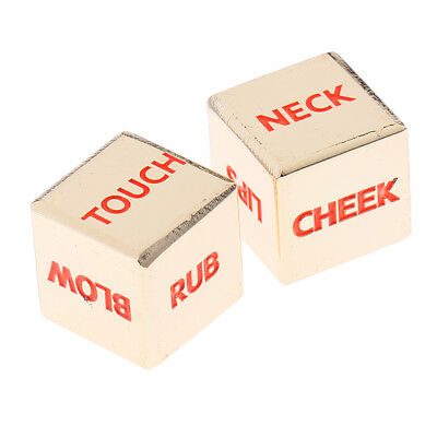 2PC Sex Funny Adult Glow Dice Game Love Humour Gambling Romance Erotic Toy