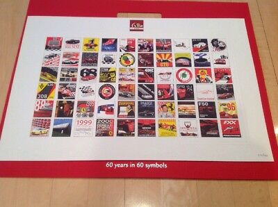 """Ferrari 60 Years Numbered Print And Dust Cover 20"""" X 25"""""""