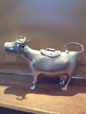 Solid sterling  Silver Cow Creamer