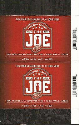 Red Wings Final Regular Season Game Last Season at The Joe Season Tickets -COPY