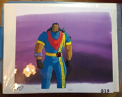 X-Men Marvel Original production animation cel and color copy background