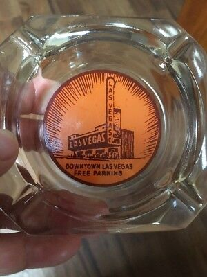 Vintage Glass Las Vegas Club Downtown Casino Las Vegas Ash Tray