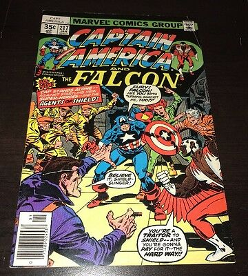 CAPTAIN AMERICA #217 FN/VF 1st Appearance MARVEL MAN Quasar Bronze Age KEY Comic