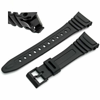 Generic 24.5mm Black Resin Strap Fits Casio Model 577EA1 W96H W-96H Flexible
