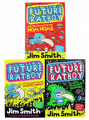 Jim Smith Future Ratboy 3 Books Collection Pack Set-the Invasion of the Nom Noms