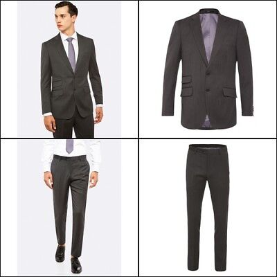 New Oxford MARLOWE WOOL SUIT JACKET CHARCOAL X WITH MATCHING TROUSERS