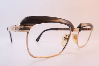 Vintage 50s eyeglasses frames gold filled brown acetate RODENSTOCK 1/20 12K GF