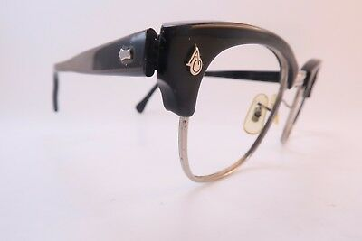 Vintage 50s eyeglasses frames American Optical steel and acetate 48-22 145