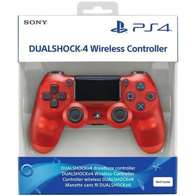 Controller Sony V2 Red Crystal Wireless Ps4 Dualshock 4 Playstation 4 Pad Nuovo