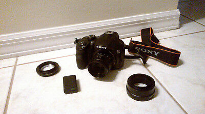 Sony A3000 DSLR E-Mount Digital Camera with 35mm Prime Lens, Battery & Adapters