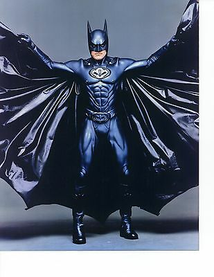George Clooney BATMAN & ROBIN 8x10 Color Glossy Photo in Costume Spreading Cape