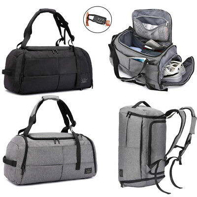 3 in 1 Mens Duffle Bag Travel Backpack Sports Gym Shouder Handbag Luggage Tote