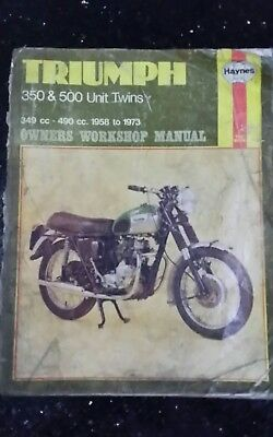Haynes Manual Triumph 350 500 twin 1958 to 1973