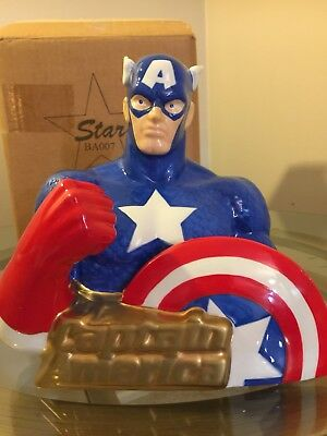 Captain America Limited Edition Bank - Star Jars 1998 Retired - Hard to Find!
