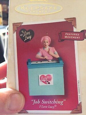"Vintage Hallmark ""I Love Lucy"" Keepsake Ornament. Famous Chocolate Candy Scene."