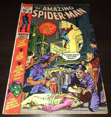 Amazing Spider Man #96 Marvel Comics Bronze Age 6.5 FN+ Not Comics Code Approved