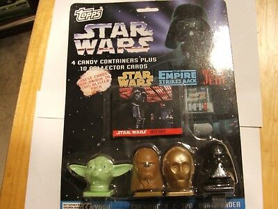 Topps Star Wars 4 Candy Containersplus 10 Collector Cars