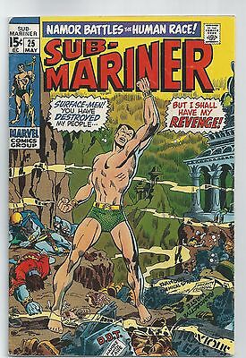 Marvel Comics The SUB-MARINER #25 vs. Surface-Men  May 1970 GD Bagged/Boarded