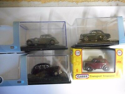Base Toys Oo 4X Older  British Cars 1