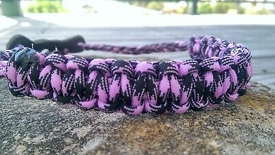 Archery Bow Sling 550 Paracord  Purple & Black camo + 3 zipper pulls