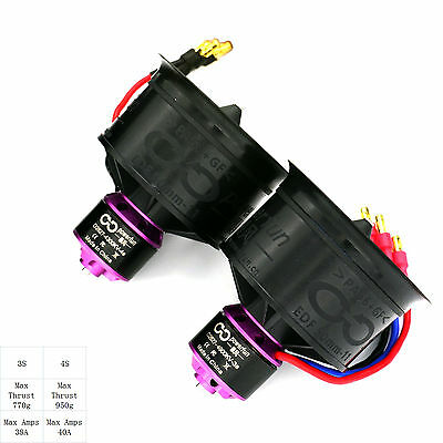 Powerfun EDF 50mm 11 blades ducted fan 3s/4900kv motor for rc jet model airplane