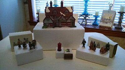 Lot of (4) Four Department 56 Dickens' Village Porcelain Christmas Houses