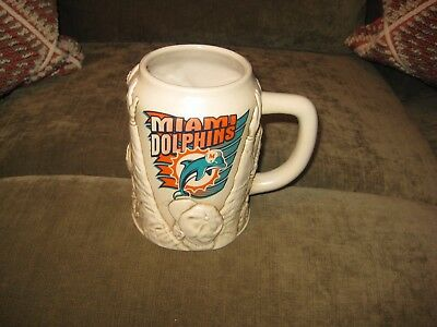 Miami Dolphins Stein / Beer Mug (never used) Glass