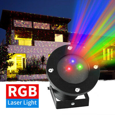 Outdoor RGB LED Garden Christmas Laser Projector Xmas Party Stage Flash Light AU