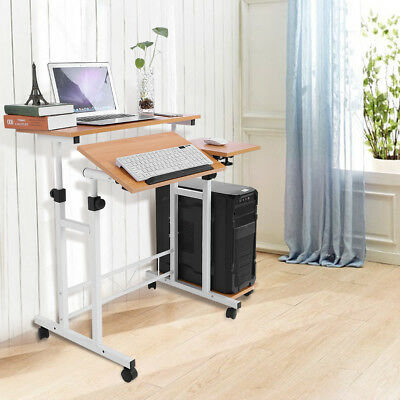 Adjustable Wood Computer Desk PC Laptop Table Workstation Home Office Furniture