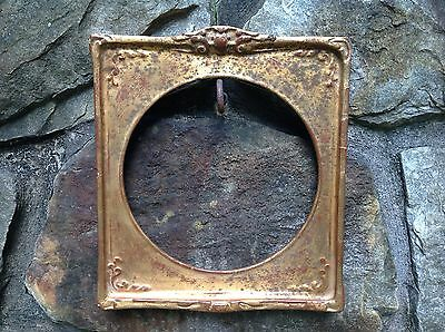 """FINE Antique 19th CENTURY Gilt PICTURE Painting FRAME Holds 8"""" diameter"""
