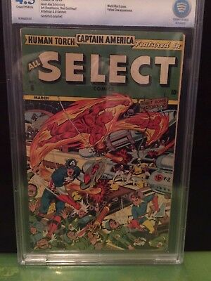 ALL SELECT COMICS #6 CBCS VG+ 4.5; CM-OW; Classic Schomburg War cover!