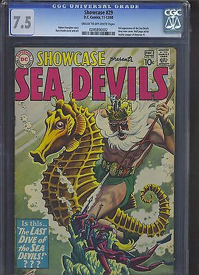 SHOWCASE #29 CGC VF- 7.5; CM-OW; 3rd Sea Devils!
