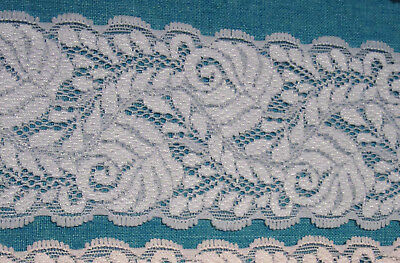Pretty Blue Stretch Lace 60mm Wide Top Quality Headbands all Crafts