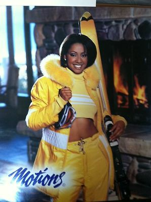 Motions Ski Poster 80/90's African American Model NICE!!