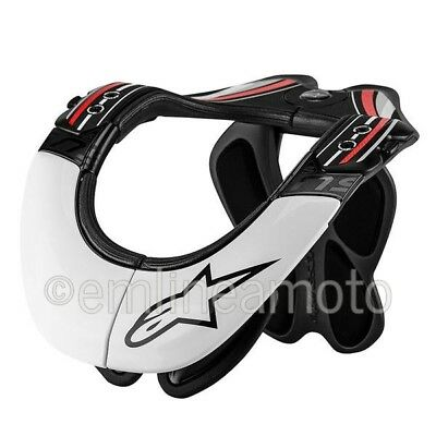 Neck Protector Alpinestars BNS PRO White/Black - L/XL