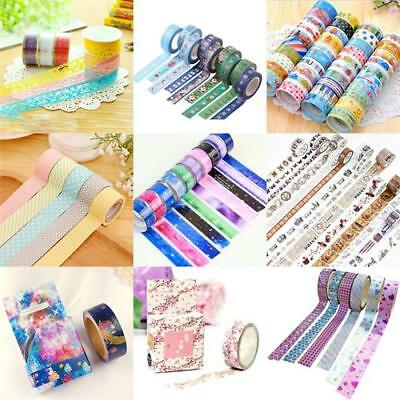 Multi DIY Paper Sticky Adhesive Sticker Decorative Scrapbooking Washi Tapes