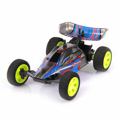 1/32 2.4G USB Rechargeable Mini RC Racing Car Toy W/Remote Control Kid Blue Free