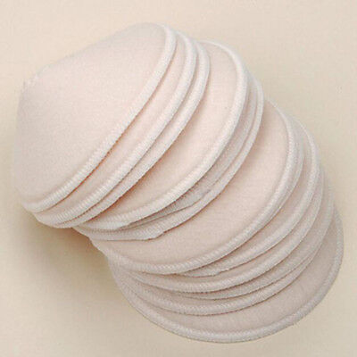 6Pcs Soft Beige Pregnant Women's Breastfeeding Pads Washble Breast Nursing Pads