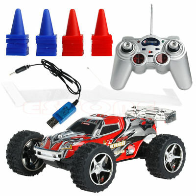 1:32 Radio Remote Control RC RTR High Speed Mini Racing Truck Car Buggy Toy Free