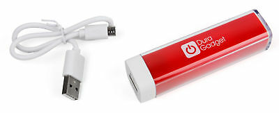 Red Power Bank w/ Micro USB Cable for Fitbit One Activity Tracker