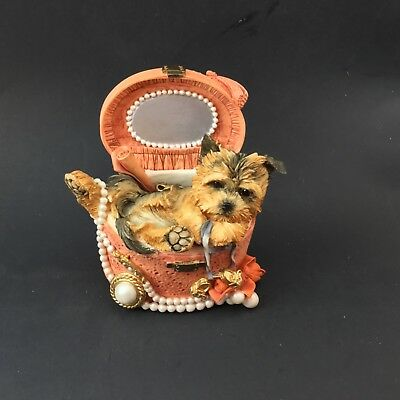 Country Artists Yorkie in jewelry box # 02257 Adorable!