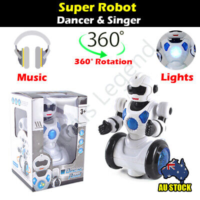 Electric Super Dancing Robot Music LED Light 360 Deg. Rotation Kids Toy Gift